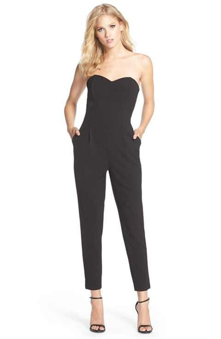 Jumpsuits strapless outfit 78