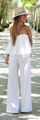 Jumpsuits strapless outfit 81