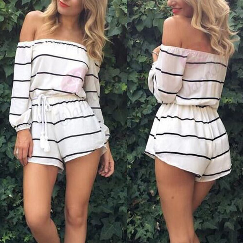 Jumpsuits strapless outfit 82