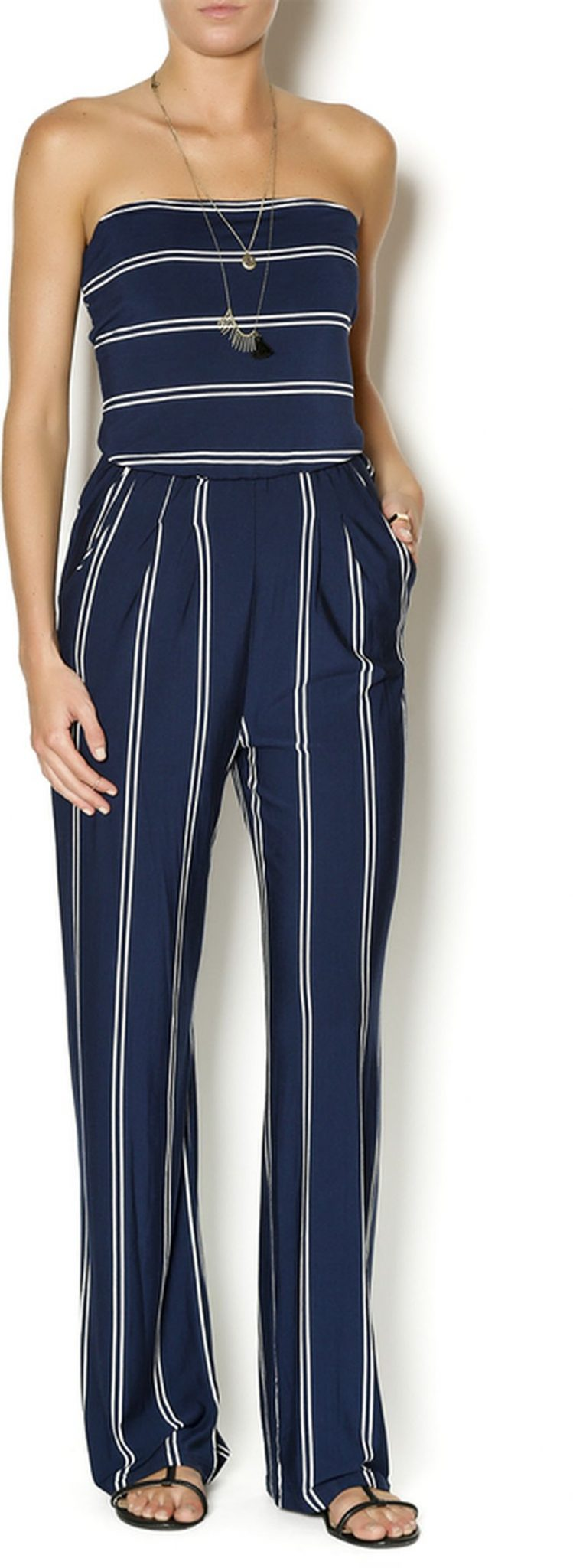 Jumpsuits strapless outfit 87