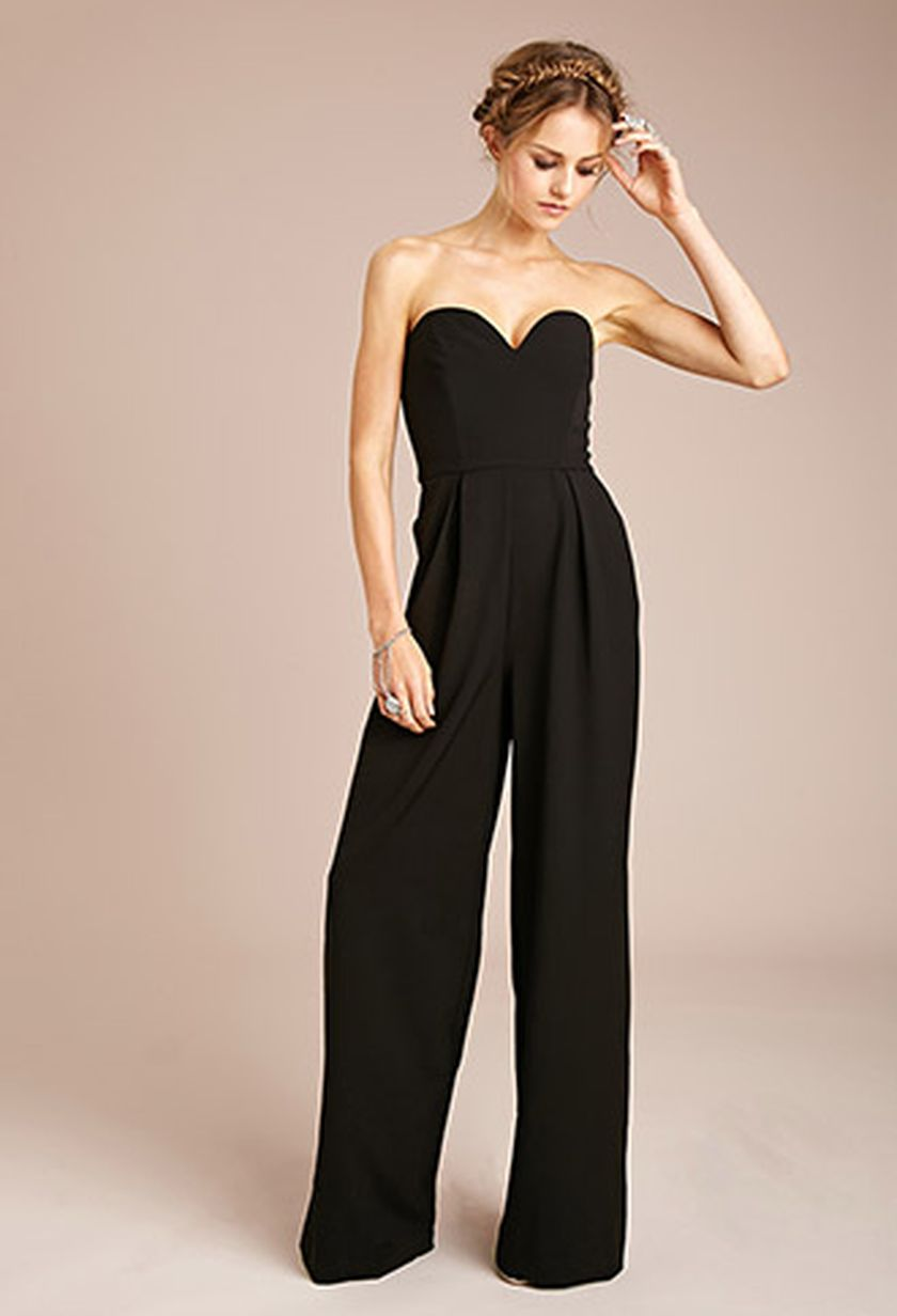Jumpsuits strapless outfit 93