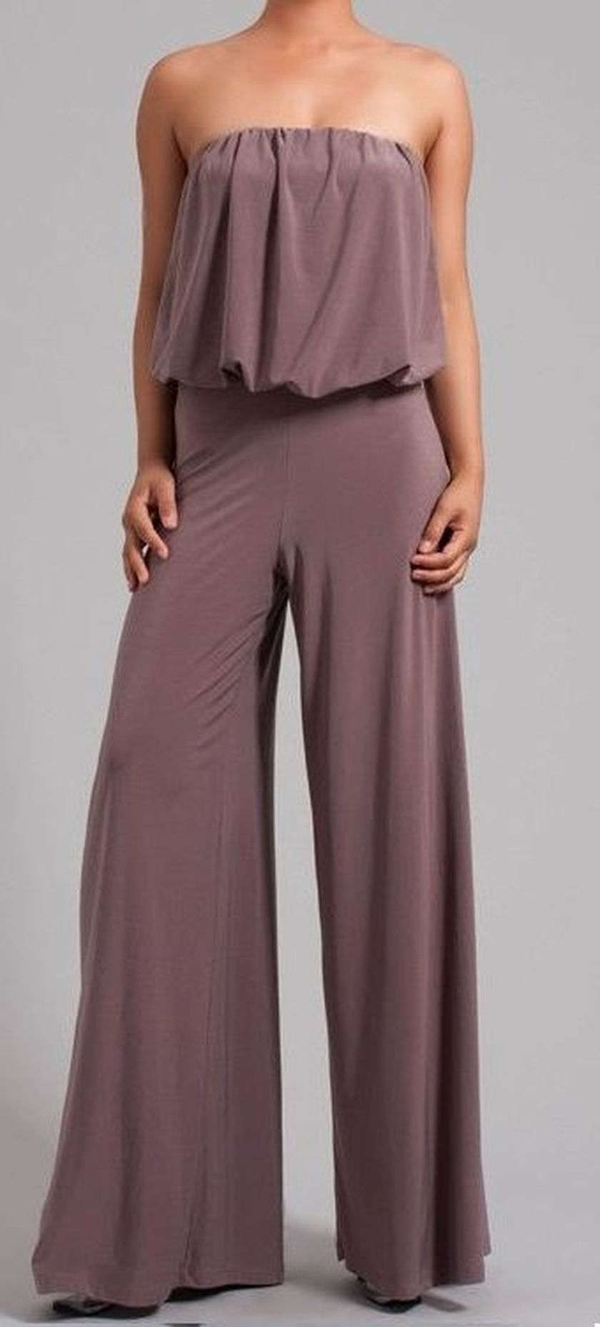 Jumpsuits strapless outfit 94