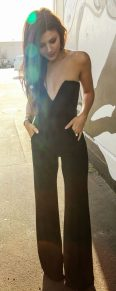 Jumpsuits strapless outfit 97