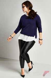 Layering outfits plus size sweaters 22