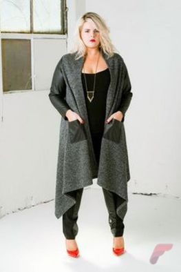 Layering outfits plus size sweaters 49