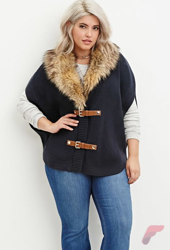 Layering outfits plus size sweaters 74