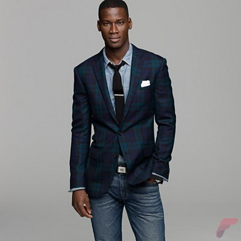 Men sport coat with jeans (101)