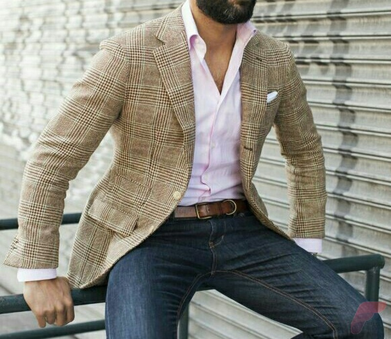 Men sport coat with jeans (110)