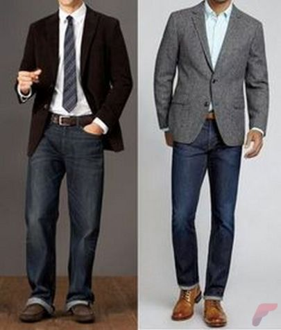 Men sport coat with jeans (119)