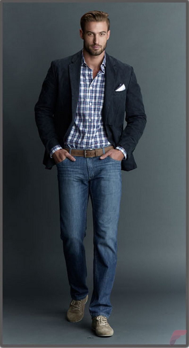 Men sport coat with jeans (152)