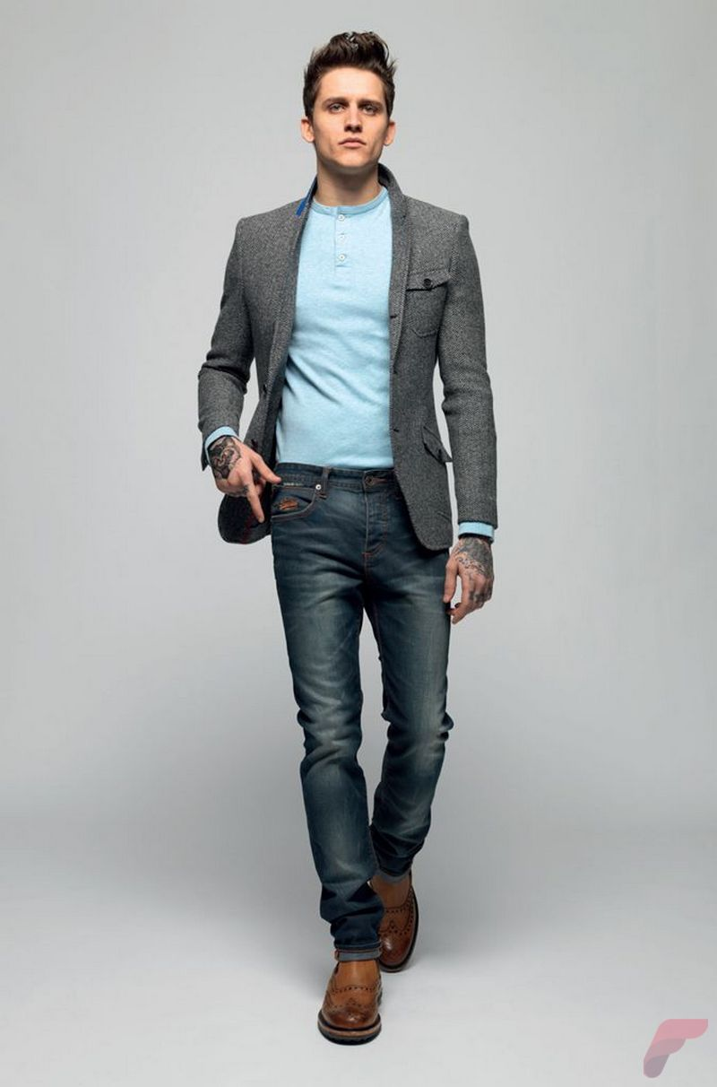 Men sport coat with jeans (160)