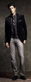 Men sport coat with jeans (168)