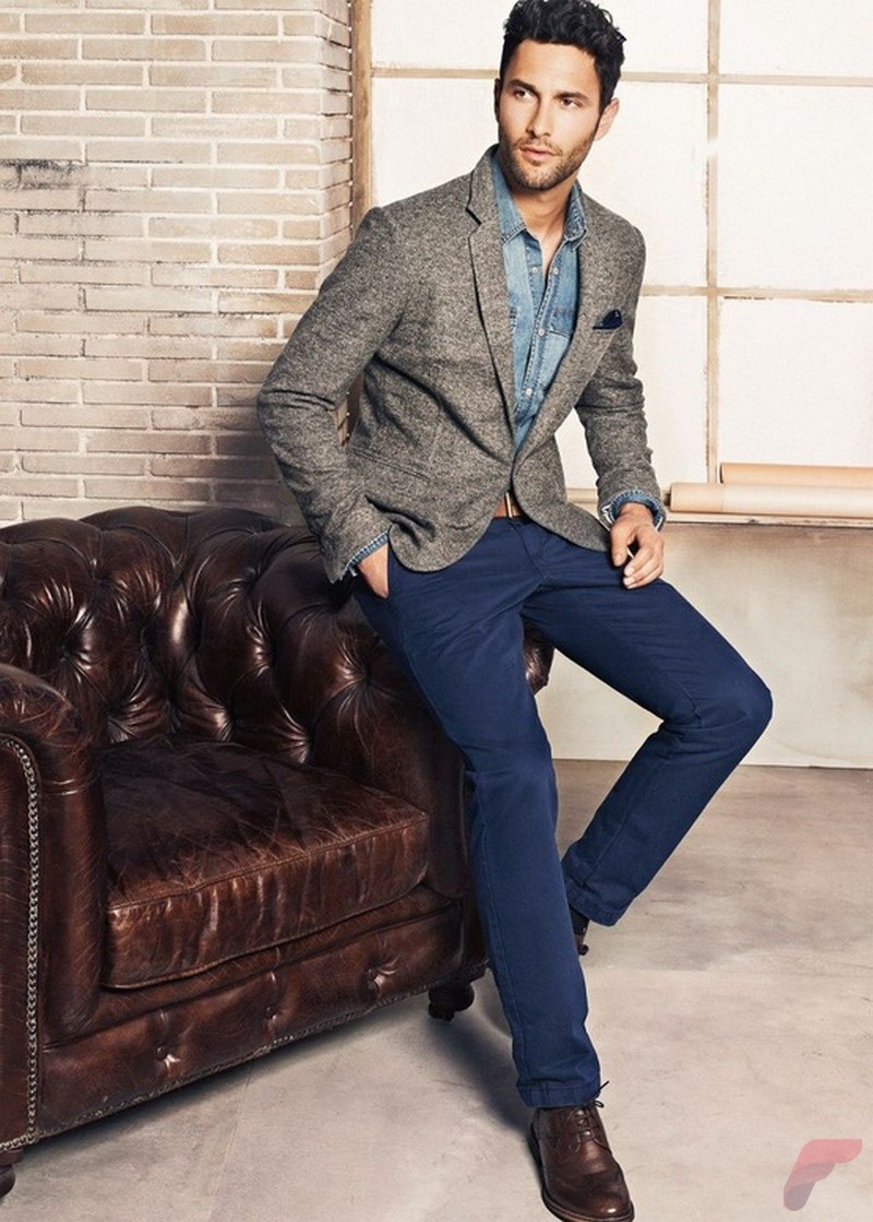 Men sport coat with jeans (173)