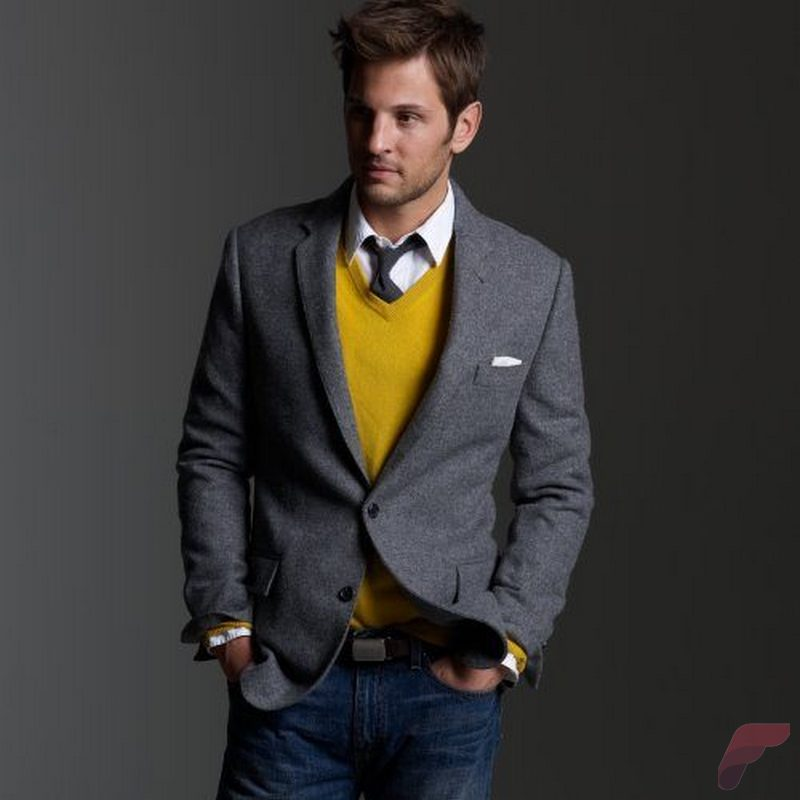 Men sport coat with jeans (174)