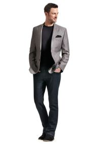Men sport coat with jeans (183)