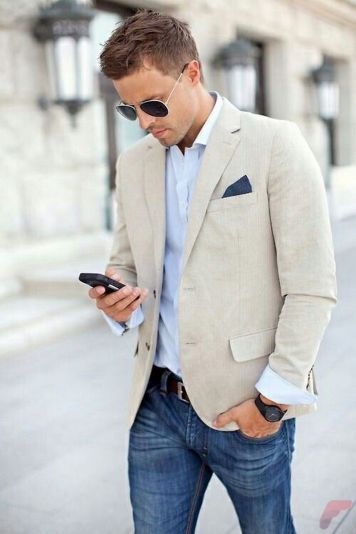 Men sport coat with jeans (86)