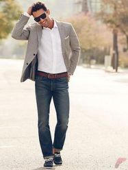 Men sport coat with jeans (98)