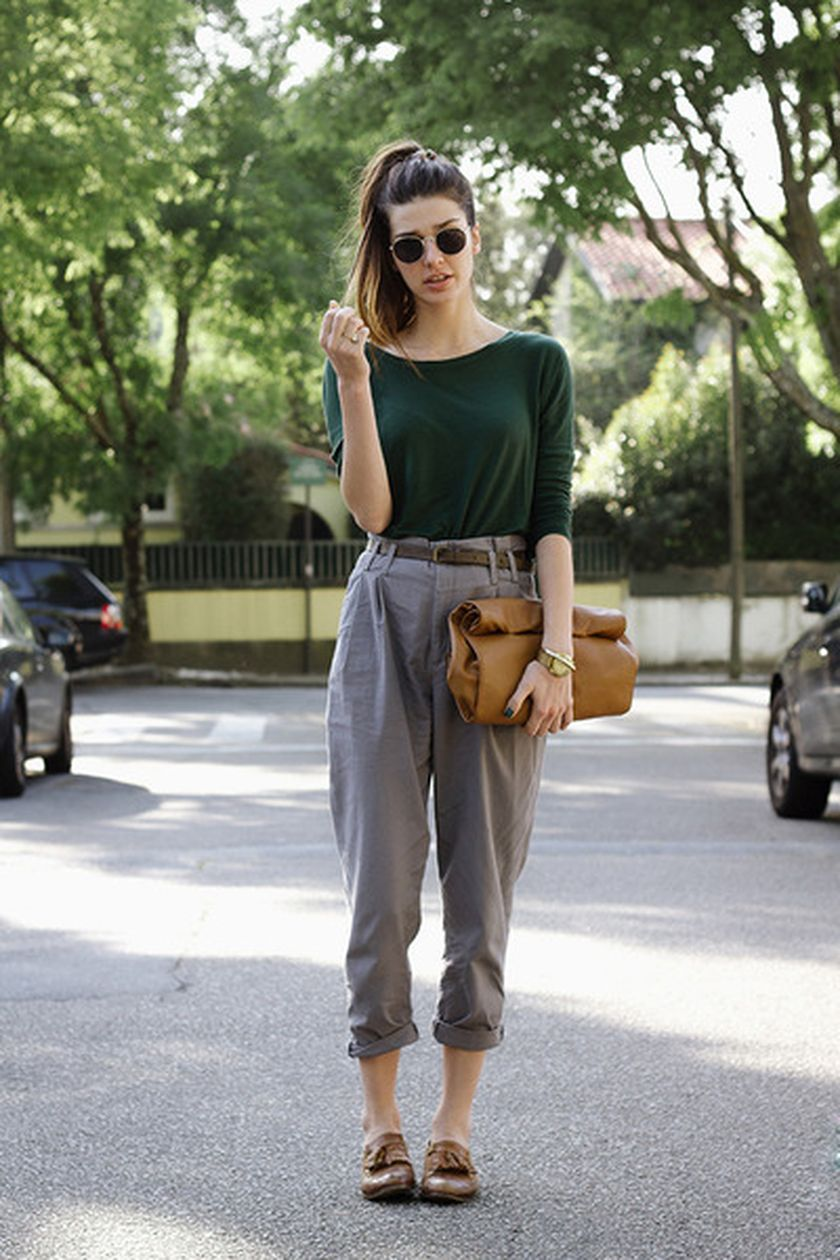 Simple casual french style outfits 10