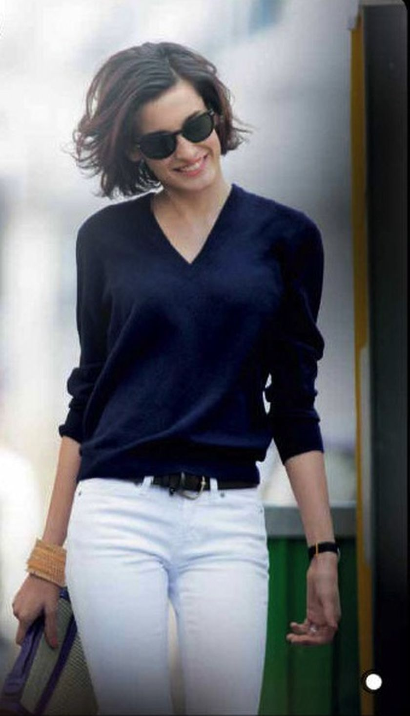 Simple casual french style outfits 16