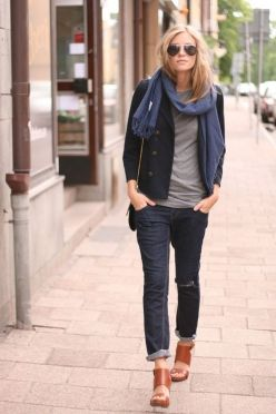 Simple casual french style outfits 18