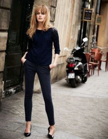 Simple casual french style outfits 48