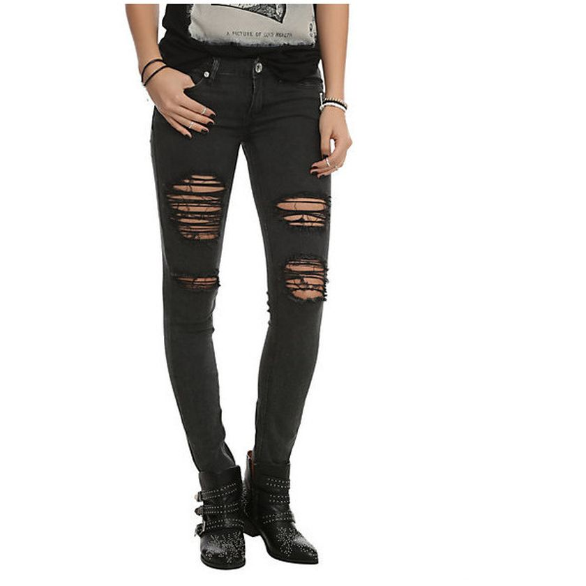 Skinny ripped jeans that will make you rock 39