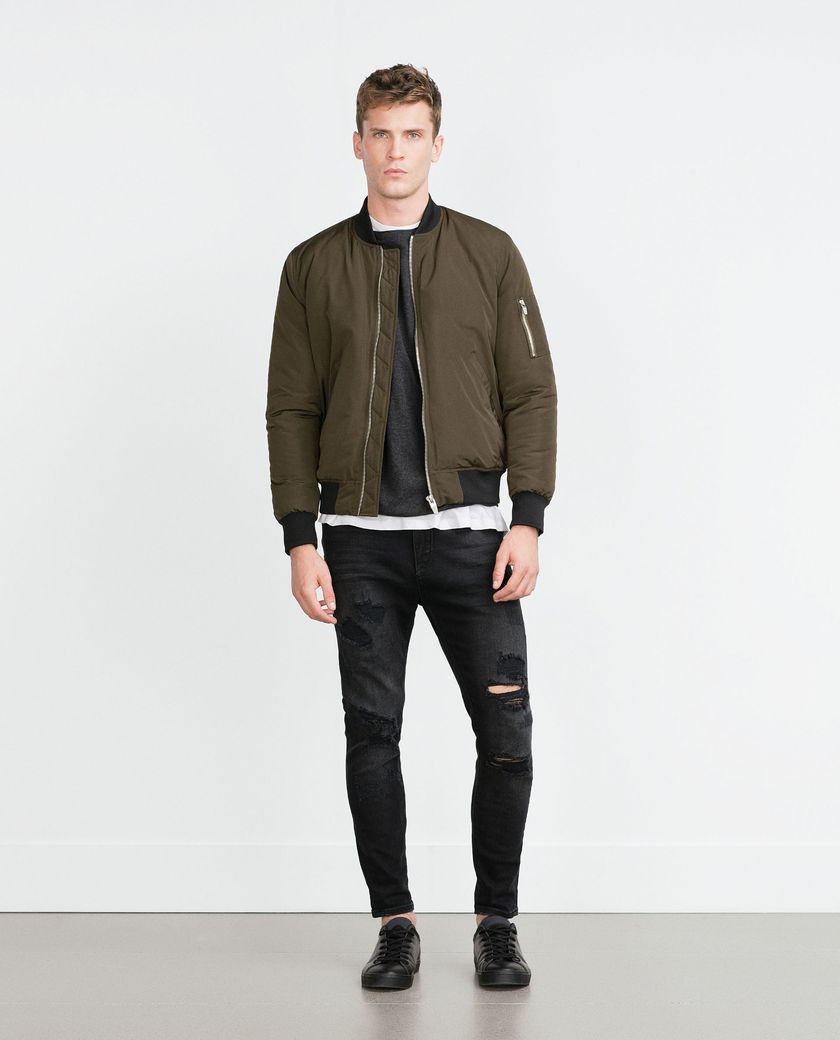 Top best model men bomber jacket outfit 107