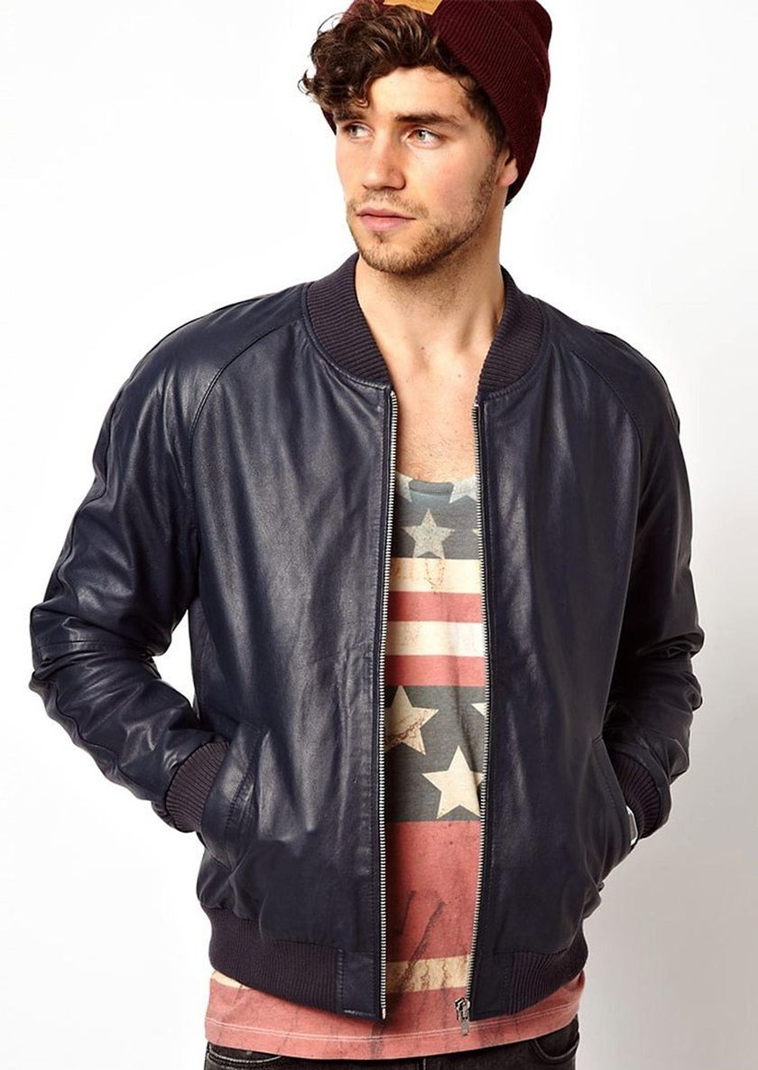 Top best model men bomber jacket outfit 78