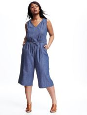 Wide leg denim plus size 12