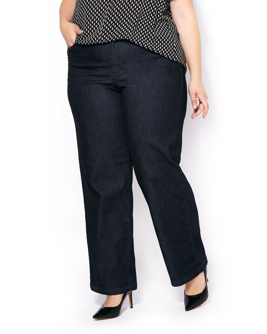 Wide leg denim plus size 15