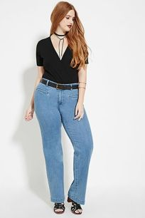 Wide leg denim plus size 20