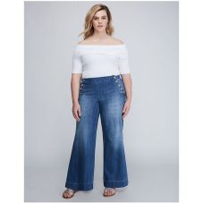 Wide leg denim plus size 24