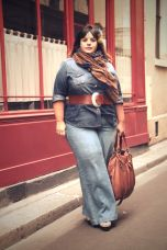Wide leg denim plus size 26
