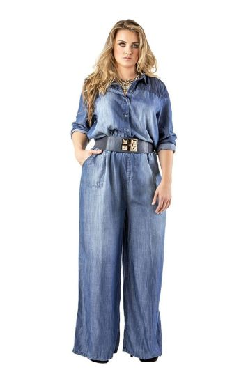 Wide leg denim plus size 27