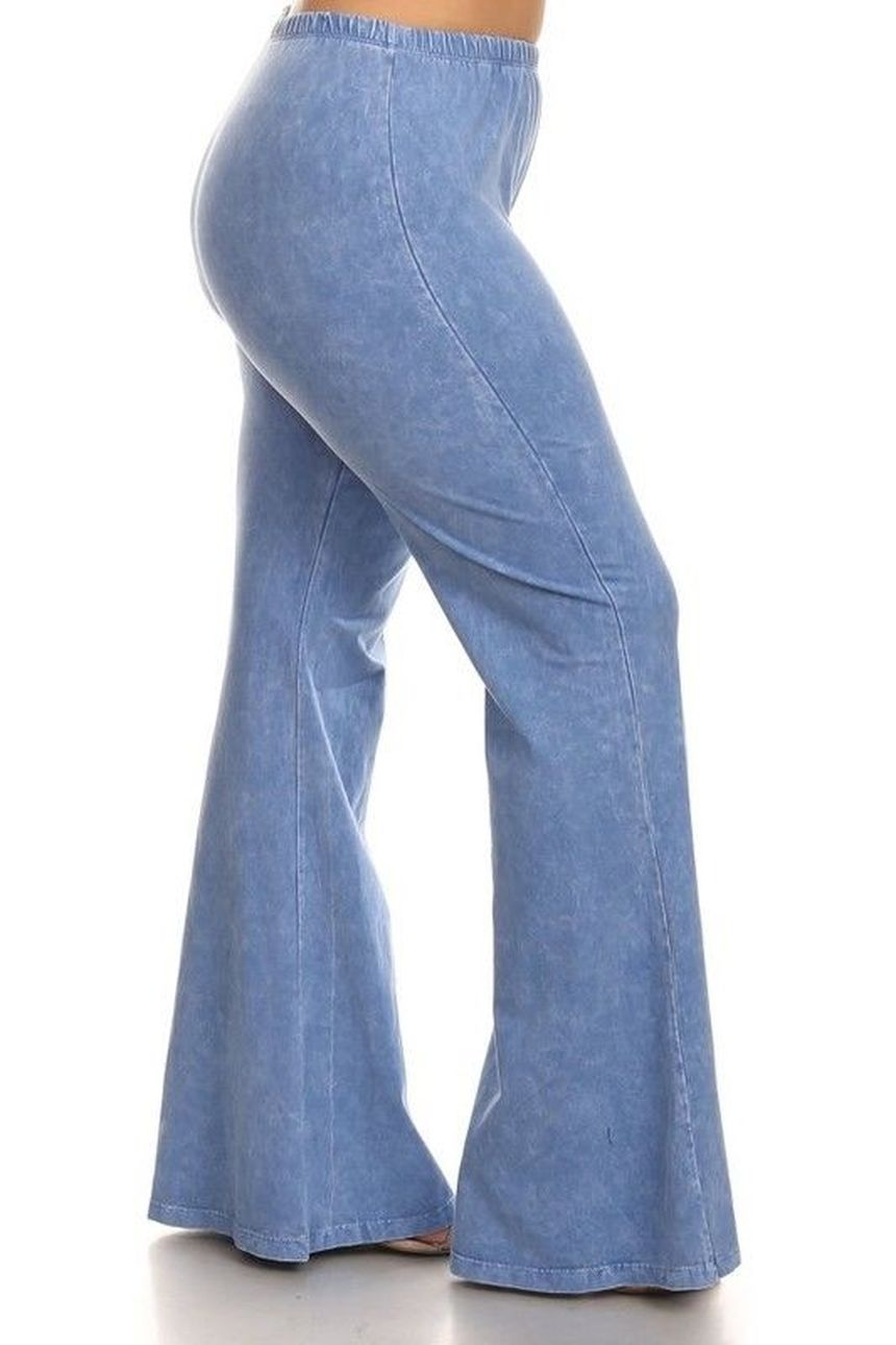 Wide leg denim plus size 3