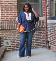 Wide leg denim plus size 32