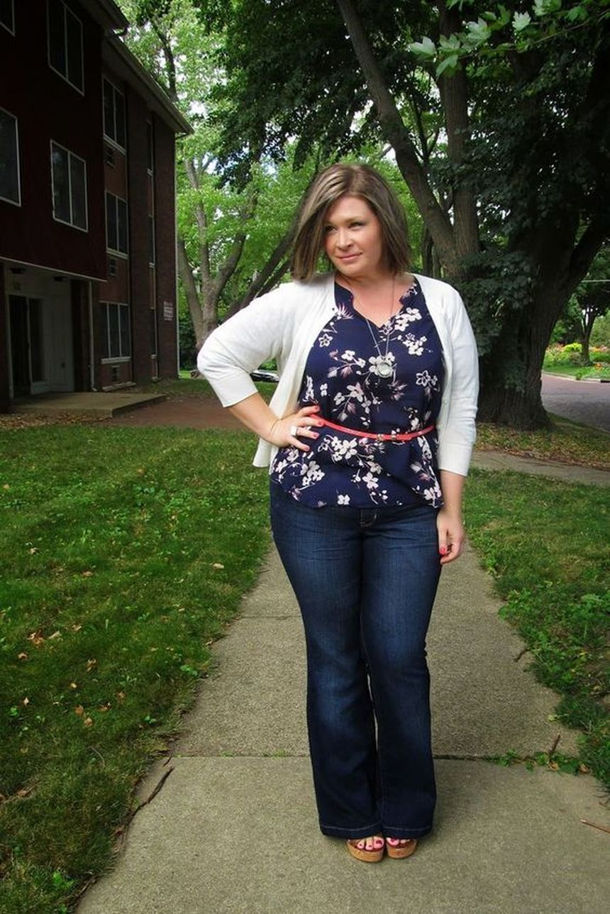 Wide leg denim plus size 5