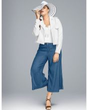 Wide leg denim plus size 51