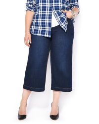 Wide leg denim plus size 6