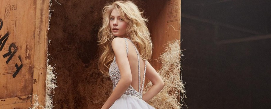 Vintage lace wedding dress open back featured