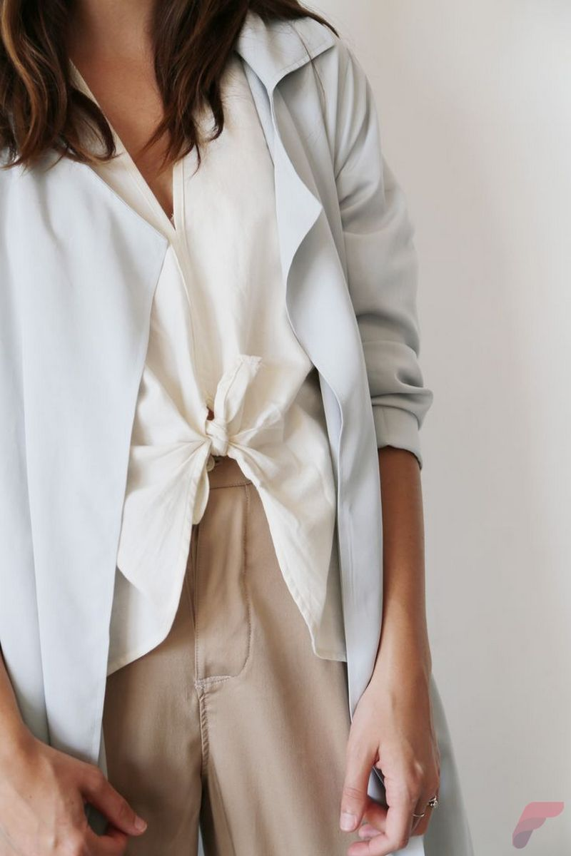 Women white shirt for work (205)