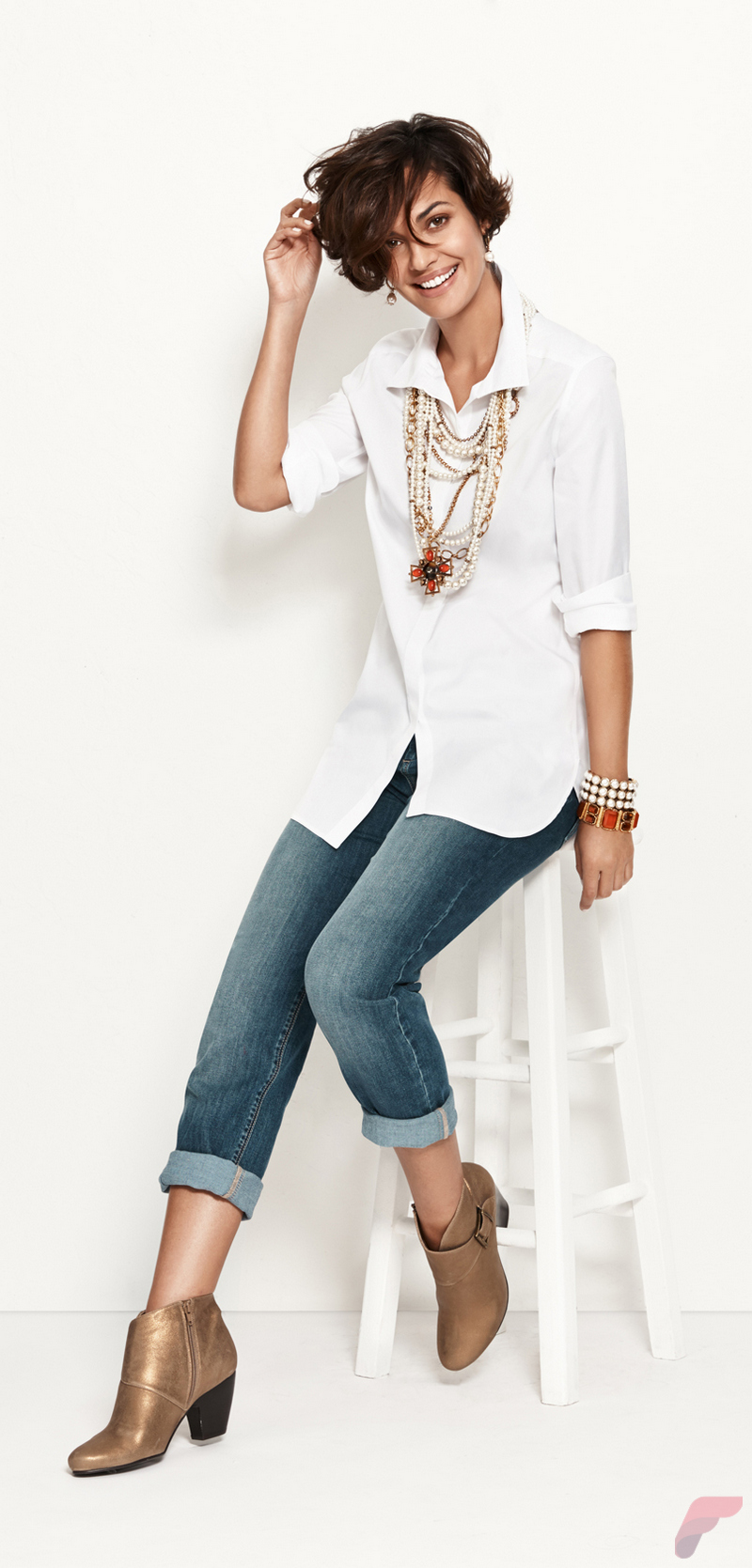 Women white shirt for work (226)