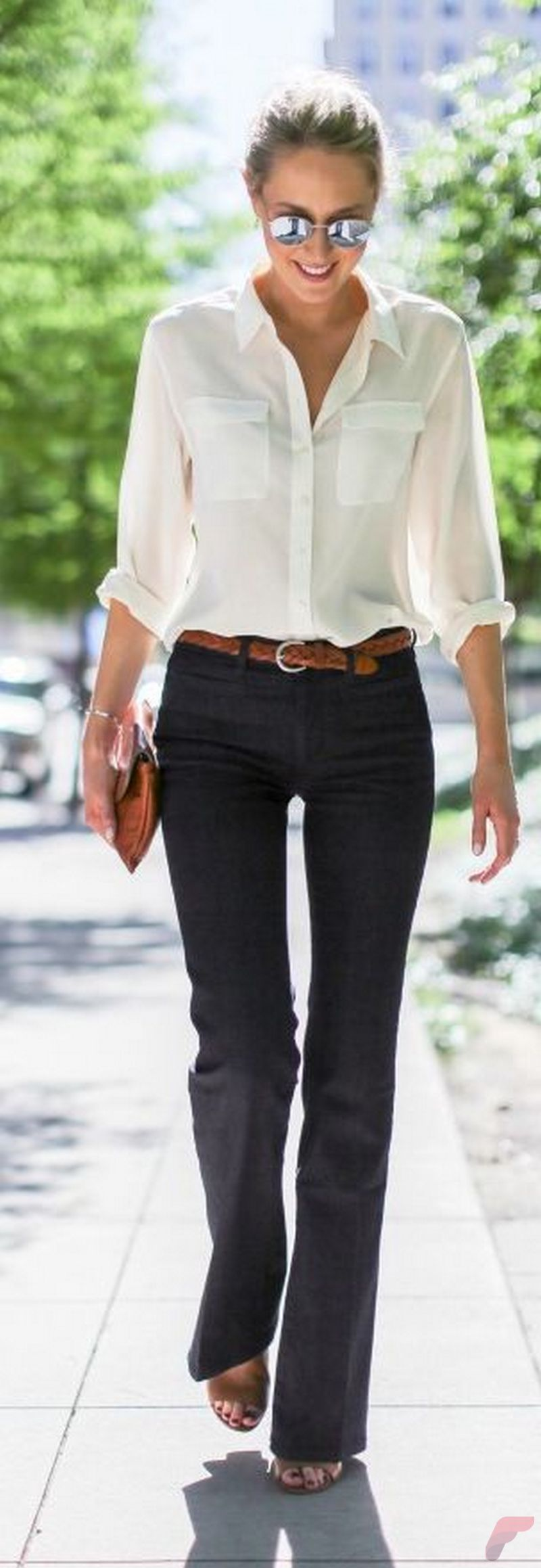 Women white shirt for work (234)