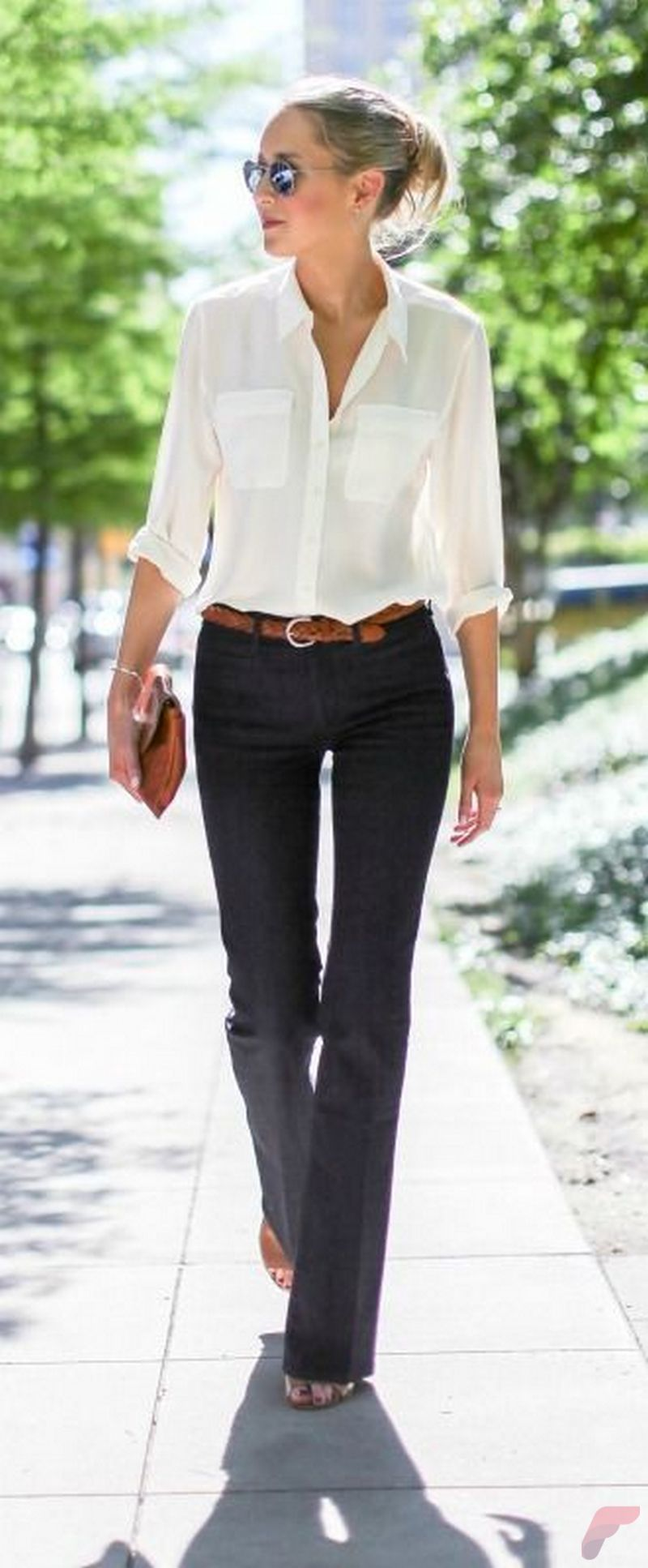 Women white shirt for work (243)