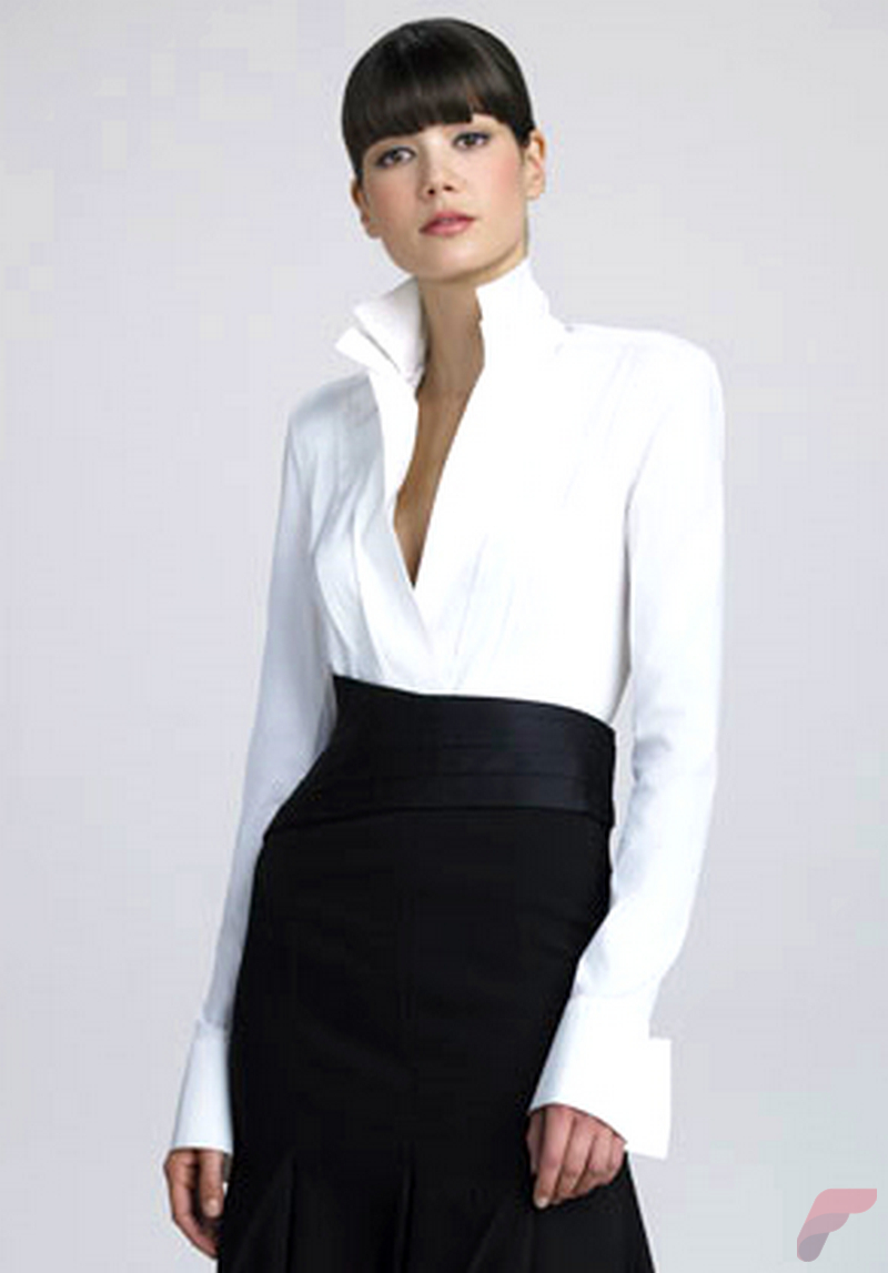 Women white shirt for work (293)
