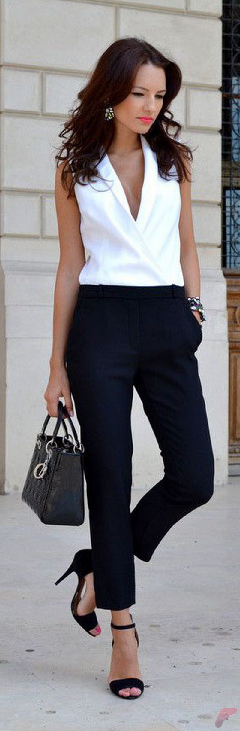 Women white shirt for work (311)