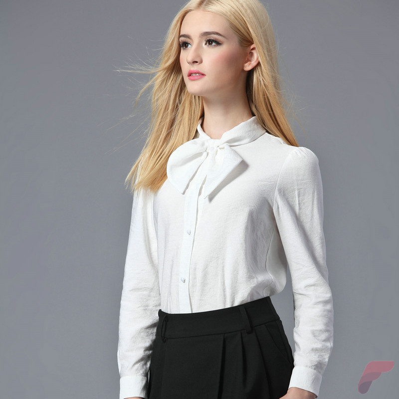 Women white shirt for work (318)