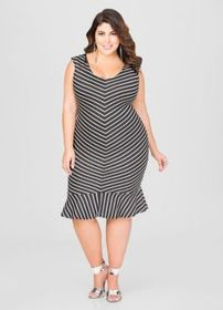 Amazing plus size striped dress outfits ideas 100