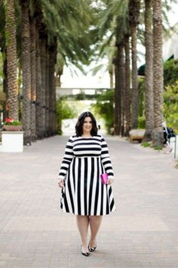 Amazing plus size striped dress outfits ideas 103