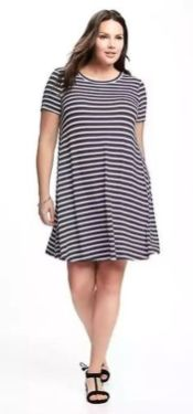 Amazing plus size striped dress outfits ideas 18
